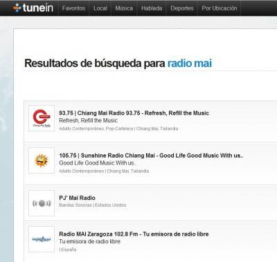 Ya podemos escuchar Radio MAI con TUNEIN, aplicaciones accesibles desde Web, IOS y ANDROID