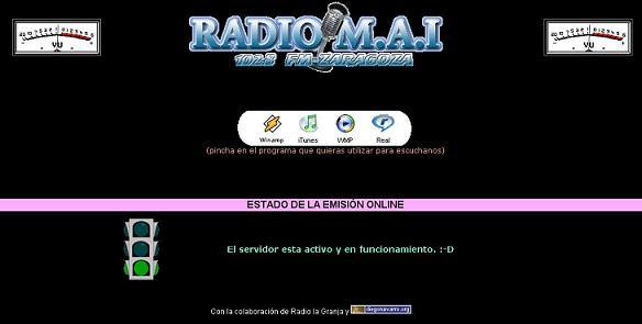 COMIENZA LA EMISIÓN EN PRUEBAS A TRAVÉS DE INTERNET DE RADIO MAI
