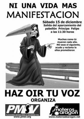 MANIFESTACIÓN EN CONTRA DE LOS GUARDARRAILES