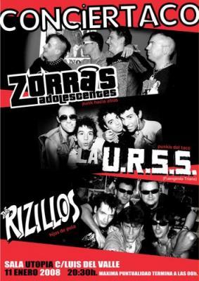 THE RIZILLOS + ZORRAS ADOLESCENTES + LA URSS