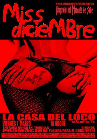 PRESENTACIÓN DEL CD DE MISS DICIEMBRE ESTE VIERNES