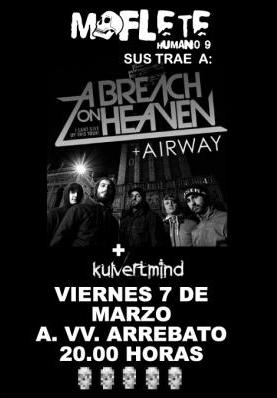 A BREACH ON HEAVEN + AIRWAY + KULVERTMIND @ A.VV. ARREBATO / VIERNES 7 DE MARZO