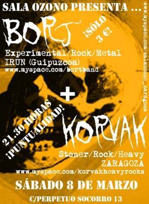 BORT+ KORVAK EN DIRECTO SALA OZONO 8/3/08 21:30
