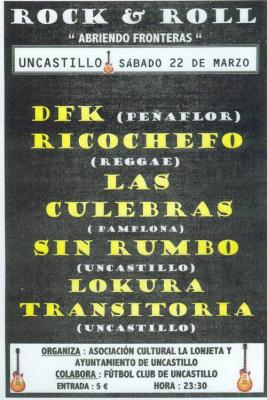 CONCIERTO DE ROCK EN UNCASTILLO (ZARAGOZA)