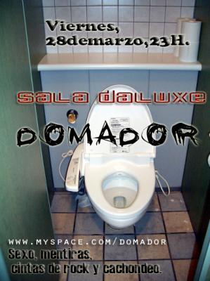 DOMADOR EN ZARAGOZA, DALUXE, VIERNES 28 DE MARZO 23:00