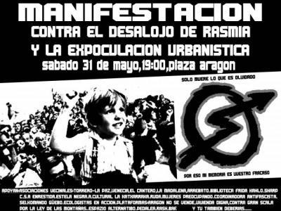 MANIFESTACIÓN EN CONTRA DEL DESALOJO DE RASMIA