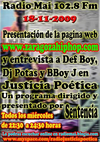 JUSTICIA POÉTICA 18 NOVIEMBRE 2009