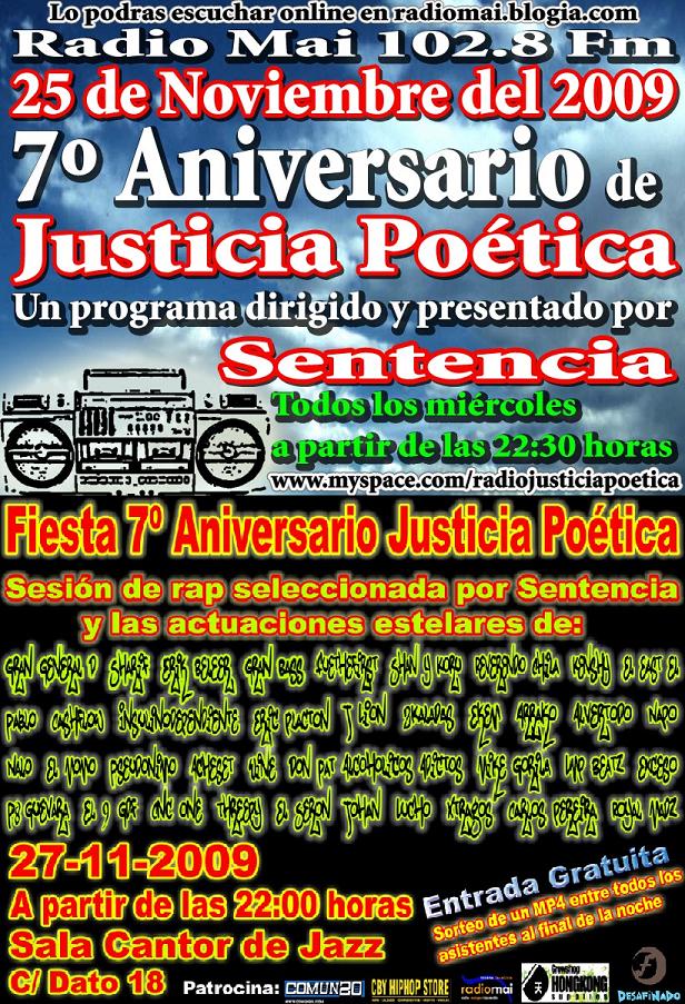 7º ANIVERSARIO JUSTICIA POÉTICA