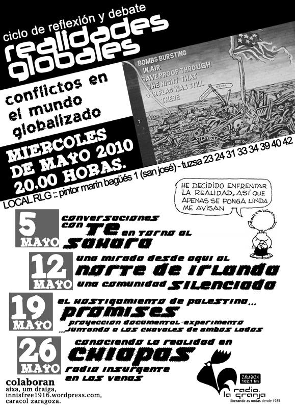 """CICLO DE REFLEXIÓN Y DEBATE """"REALIDADES GLOBALES"""""""