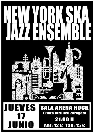 NEW YORK SKA JAZZ ENSEMBLE - JUEVES 17 DE JUNIO ZARAGOZA