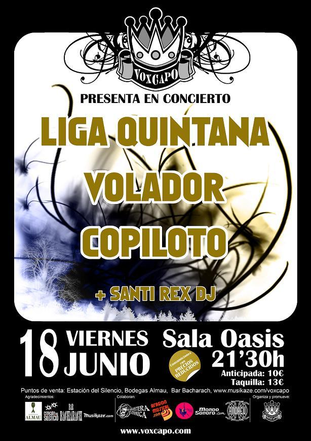 LIGA QUINTANA / COPILOTO / VOLADOR VIERNES 18-06 EN SALA OASIS