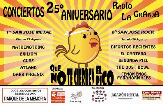 CONCIERTOS 25 ANIVERSARIO RADIO LA GRANJA