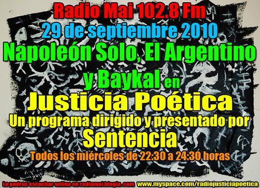 JUSTICIA POÉTICA 29 SEPTIEMBRE 2010
