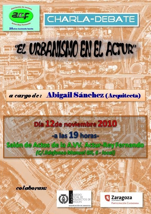 CHARLA ASOCIACION DE VECIN@S ACTUR REY-FERNANDO