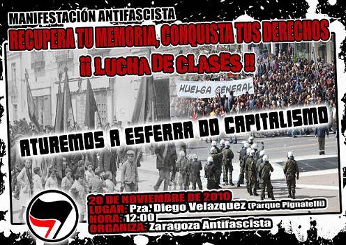 Sábado 20N. 12h. Manifestación Antifascista