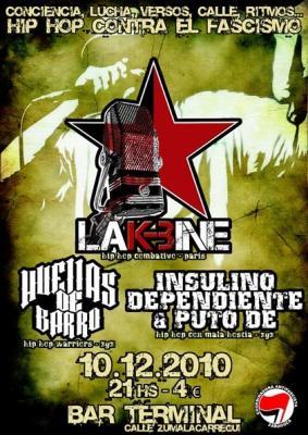 ZGZ - Viernes 10 Diciembre] Hip hop Contra el Fascismo: LA K-BINE + HUELLAS DE BARRO + INSULINO DEPENDIENTE & PUTO DE