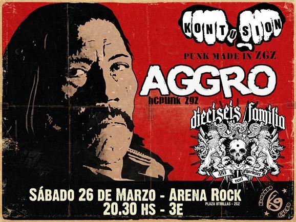 DIECISEIS FAMILIA + AGGRO + KONTUSIÓN / 26.03.2011 / ARENA ROCK