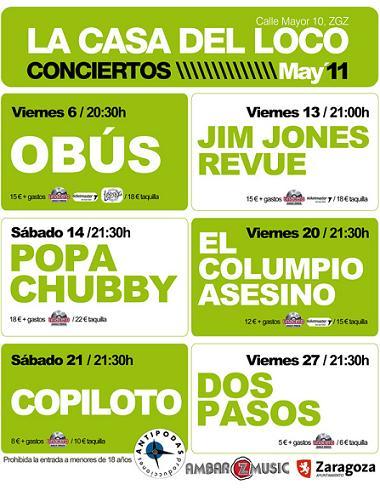 CONCIERTOS LA CASA DEL LOCO MAYO 2011
