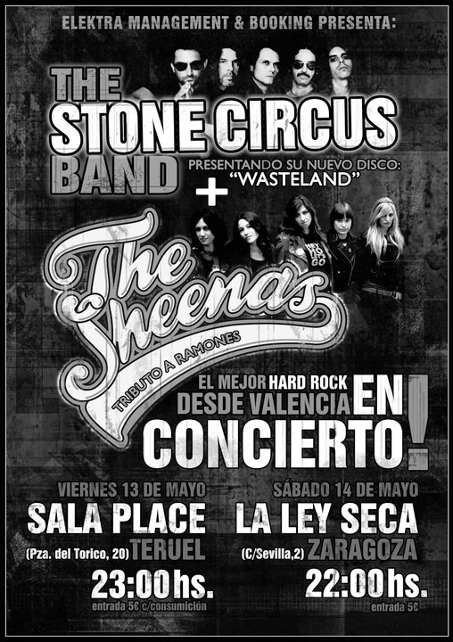 THE STONE CIRCUS BAND & THE SHEENAS (VALENCIA) EN LA LEY SECA‏