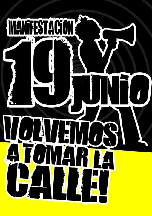 EL 19 DE JUNIO TOMA LA CALLE