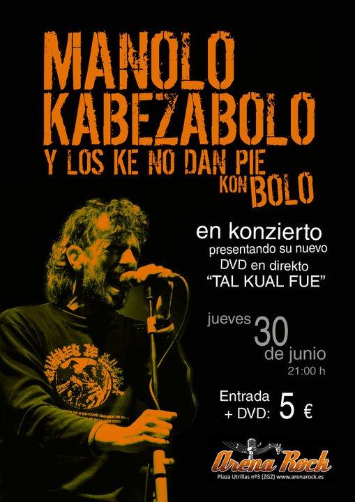 MANOLO KABEZABOLO PRESENTA DVD EN ZARAGOZA