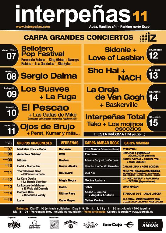 CONCIERTOS INTERPEÑAS 2011