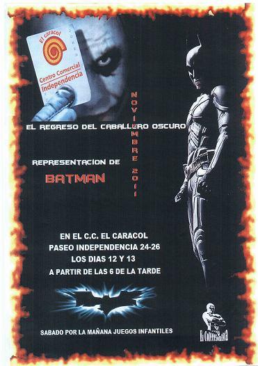 Batman y Joker en el Centro Comercial Independencia