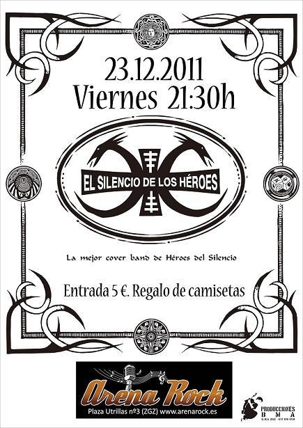 EL SILENCIO DE LOS HÉROES ESTE VIERNES EN ARENA ROCK