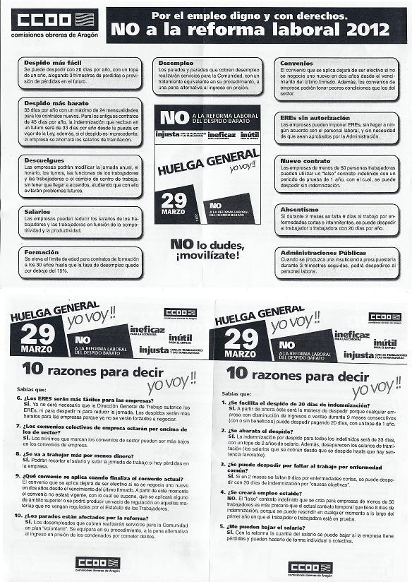 HUELGA GENERAL 29 MARZO