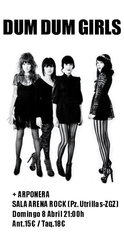 DUM DUM GIRLS ESTE DOMINGO EN ZARAGOZA