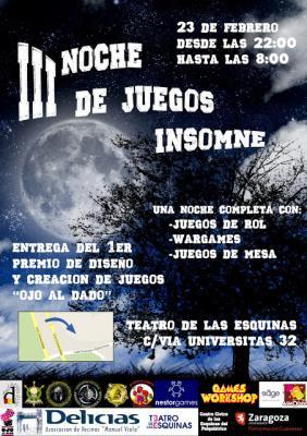 III Noche de Juegos Insomne   (23 Febrero)